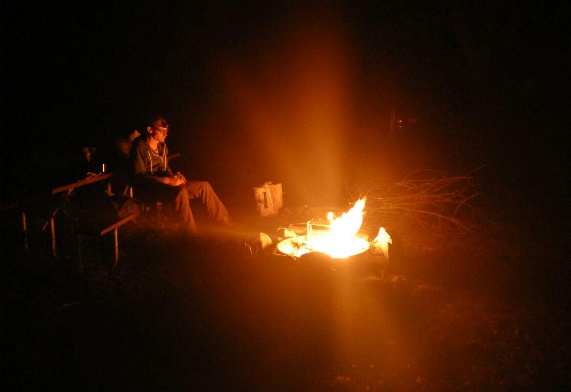Erstes Lagerfeuer der Saison