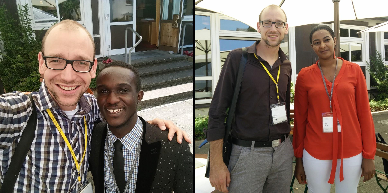 Mit Seth (Ghana) und Dalia (Sudan) in Lindau